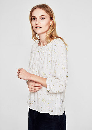 Crêpe blouse met een print all-over