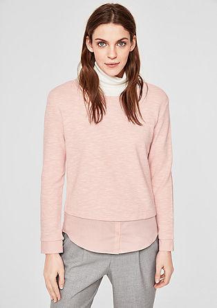 Sweatshirt mit Blusen-Details