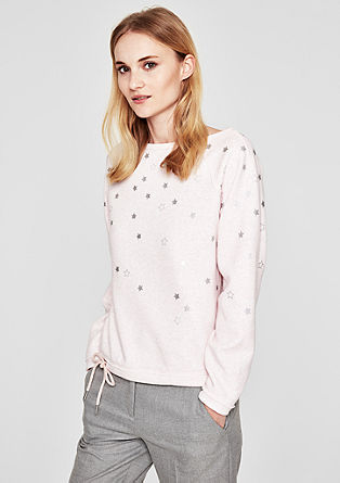 Softer Sweater mit Metallic-Print