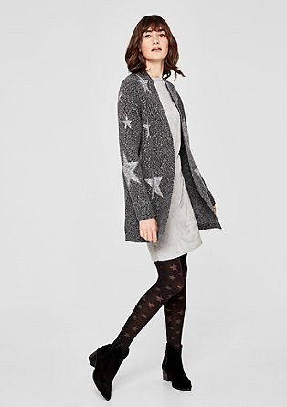 Long cardigan with stars from s.Oliver