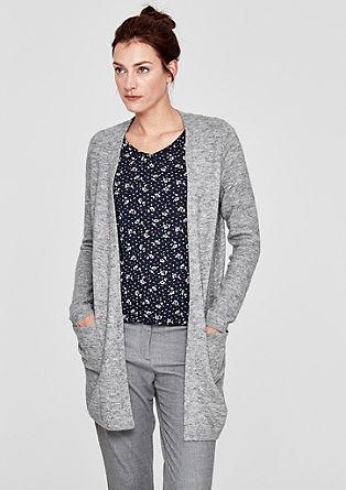 Glinsterend vest met alpacawol