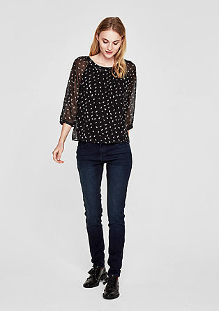 High Rise Skinny: Stretchjeans