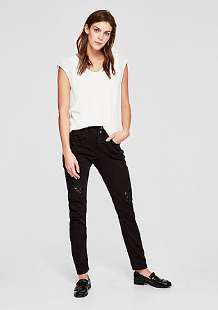 Shape Slim: jeans with a sequins from s.Oliver