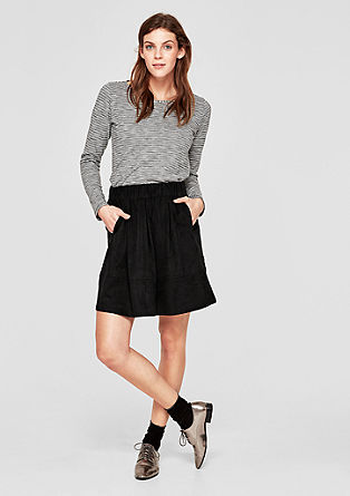 Flared suede skirt from s.Oliver