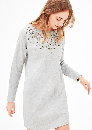 Sparkly sweatshirt dress with decorative beads from s.Oliver