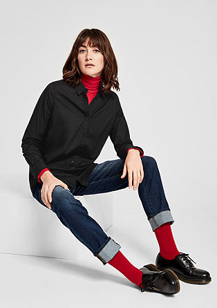 Klassische Bluse aus Baumwolle