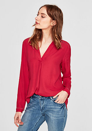Crêpe blouse top with metal details from s.Oliver