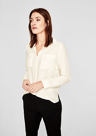 Satin blouse with elegant stripes from s.Oliver