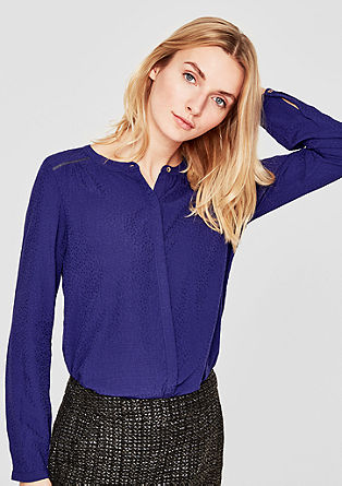 Lightweight blouse with metallic details from s.Oliver