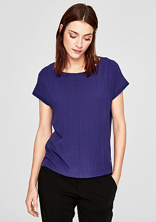 Short sleeve jacquard blouse from s.Oliver