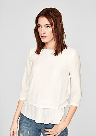 Pleated layered blouse from s.Oliver