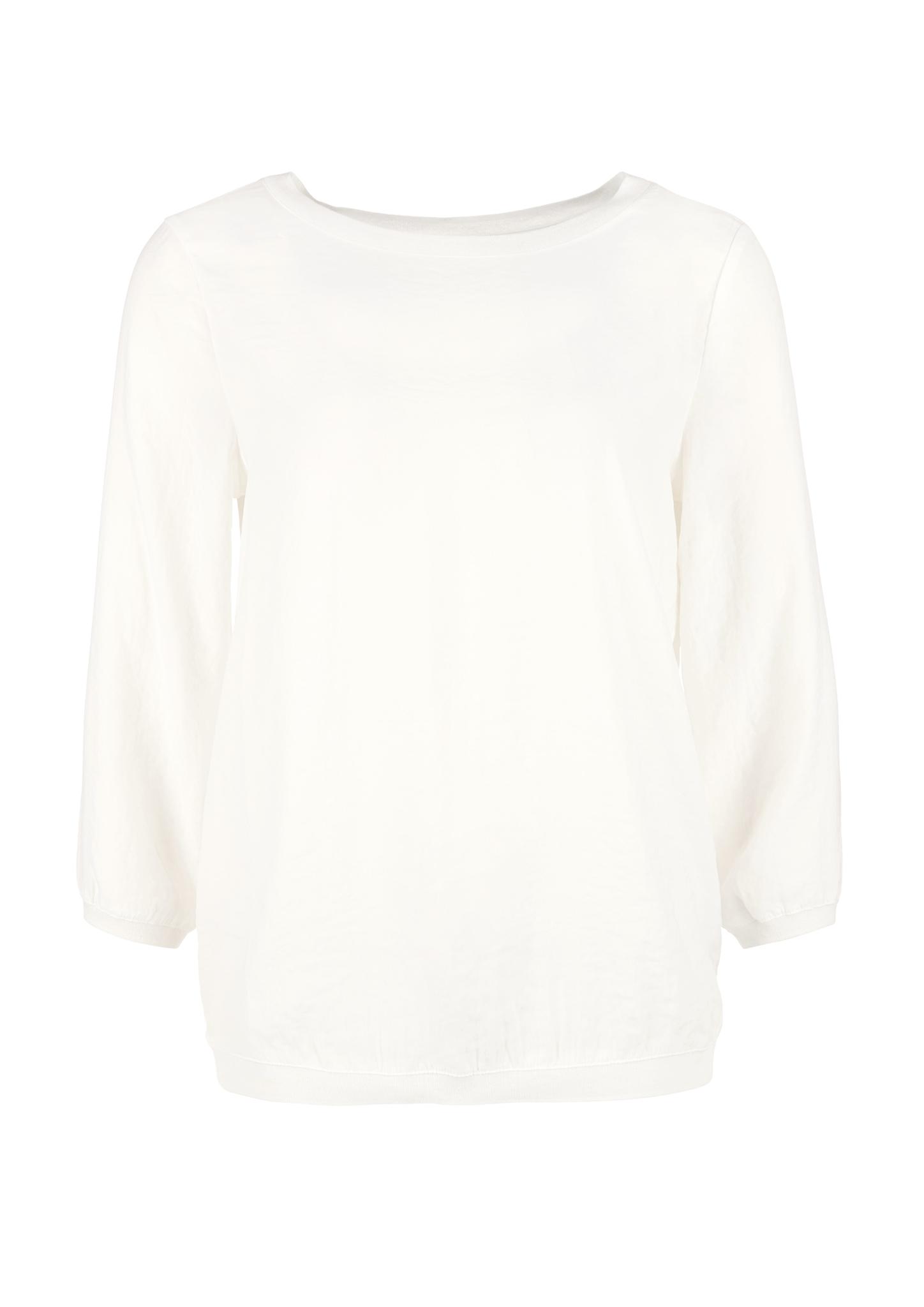 Satinbluse   Bekleidung > Blusen > Satinblusen   Weiß   Obermaterial 100% polyester  kragen/bund 97% polyester -  3% metallisiertes garn   s.Oliver