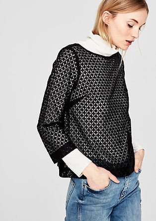 Boxy top with a lace pattern from s.Oliver