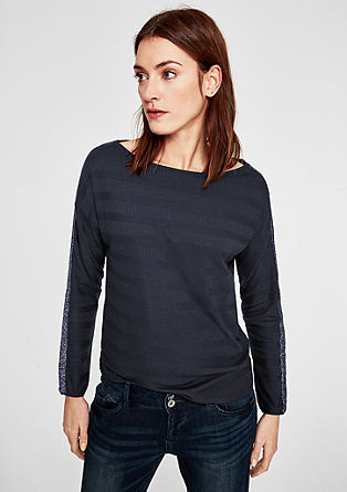 Ribbed top with sparkly stripe details from s.Oliver