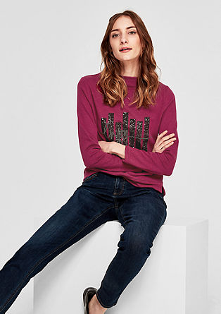 Sweatshirt pulover z bleščicami