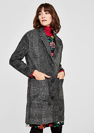 Prince of Wales check coat with new wool from s.Oliver