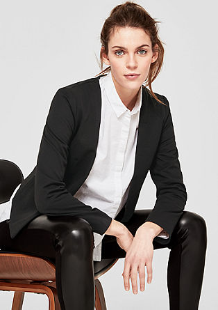 Simple crêpe blazer from s.Oliver