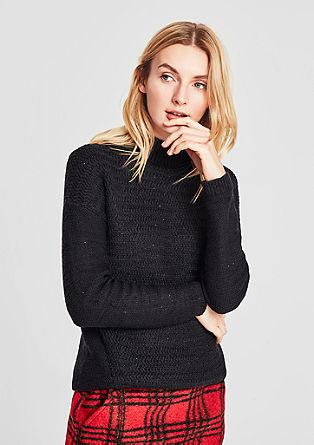 Pleten pulover z bleščicami