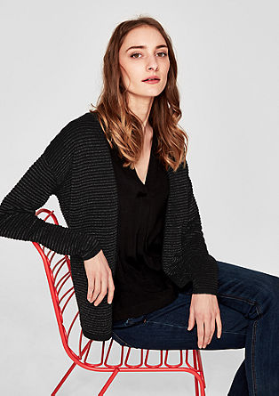 Cardigan with metallic stripes from s.Oliver