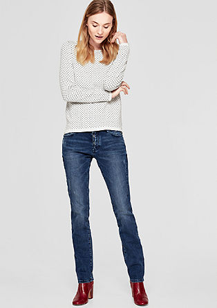 Shape Slim: Jeans with effect stitching from s.Oliver