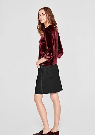 Mini-jupe à galons métalliques de s.Oliver