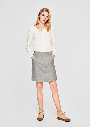 Twill skirt with wool from s.Oliver