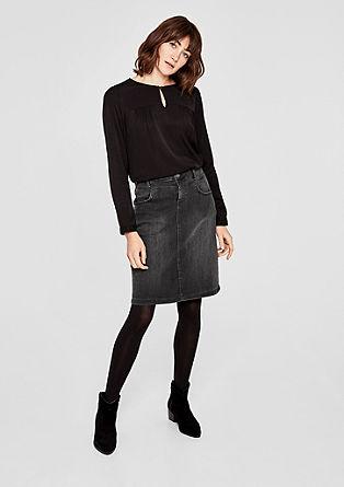 Džínová sukně se třpytivým efektem