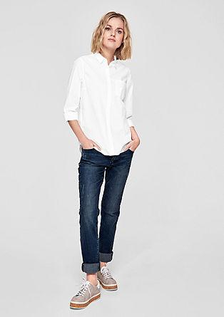 Katoenen blouse met borstzak
