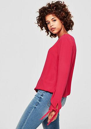 Krepové halenkové tričko suzlem