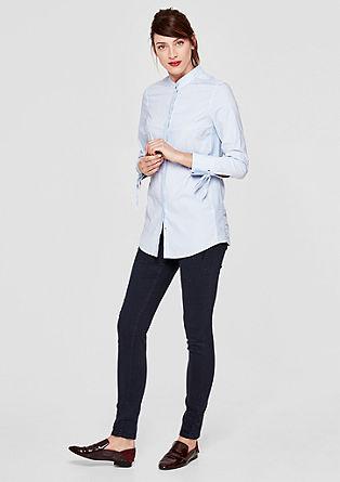 Lange blouse met opstaande kraag