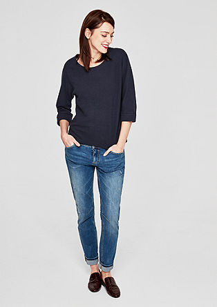 Sweatshirt with textured stripes from s.Oliver