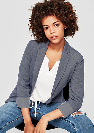 Blazer in gemêleerd design
