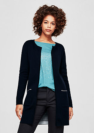 Cardigan with a contrasting interior from s.Oliver