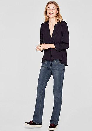 Smart Bootcut: Jeans mit Schmucksteinen