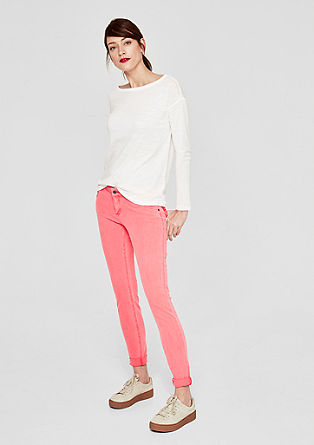 Shape Superskinny: Clean twill trousers from s.Oliver