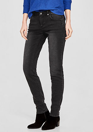 Shape Superskinny: Velvety denim jeans from s.Oliver