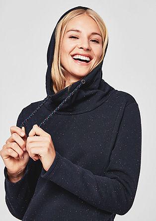 Sweatshirt-Kleid mit Kapuze