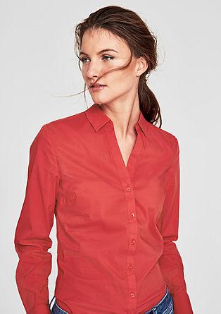 Stretch-Bluse mit V-Ausschnitt
