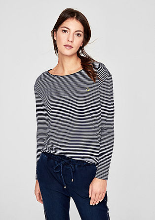 Nautical striped top from s.Oliver