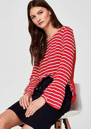 Flounce top with a striped front from s.Oliver