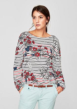 Feinstrick-Shirt mit Elastik-Saum