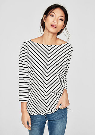 Boxy top with diagonal stripes from s.Oliver