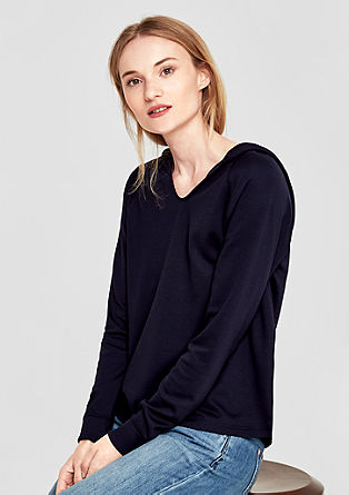 Basic hoodie van interlock-jersey