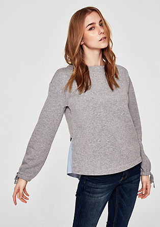 Sweatshirt with a blouse layer from s.Oliver