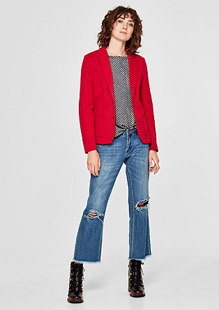 Sleek sweatshirt blazer from s.Oliver