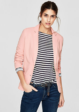 Sweatshirt jacket in a blazer look from s.Oliver