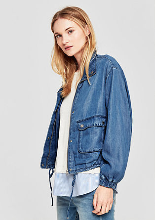Lightweight lyocell denim jacket from s.Oliver