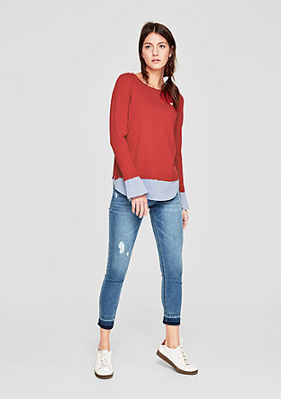 Pullover im 2-in-1-Look