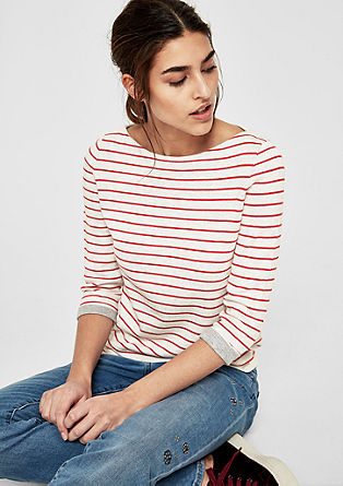 Double-faced jumper with stripes from s.Oliver