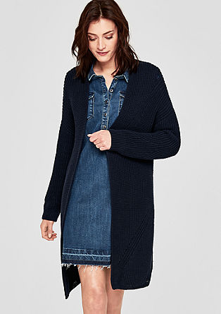 Lockere Oversized-Jacke aus Grobstrick